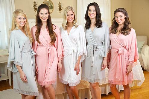 Jersey & Lace Personalized Robe