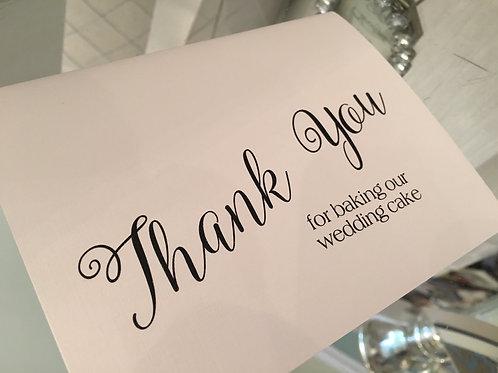 Thank you for Cake Maker/Baker