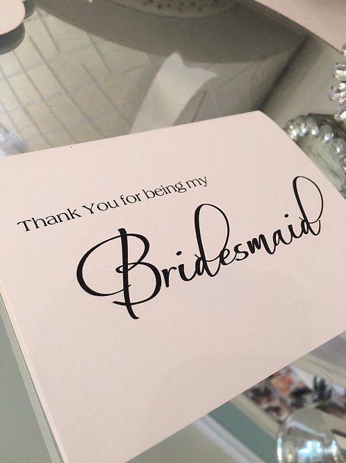 Note for Bridesmaids