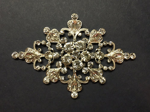 Large Brooch Silver