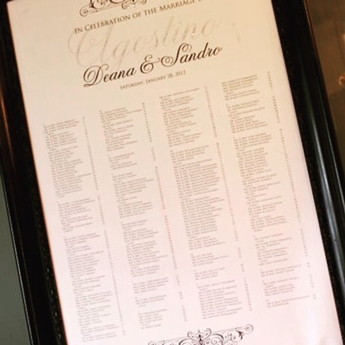 Classic Seating Chart (Framed)