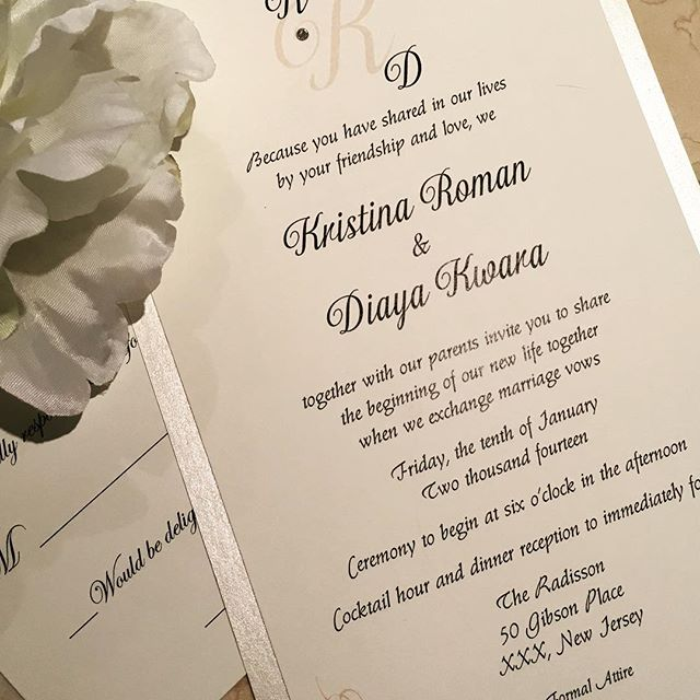 Classic & Elegant Invitation Set #custominvitations #luxuryinvitations #handmadeinvitations #wedding