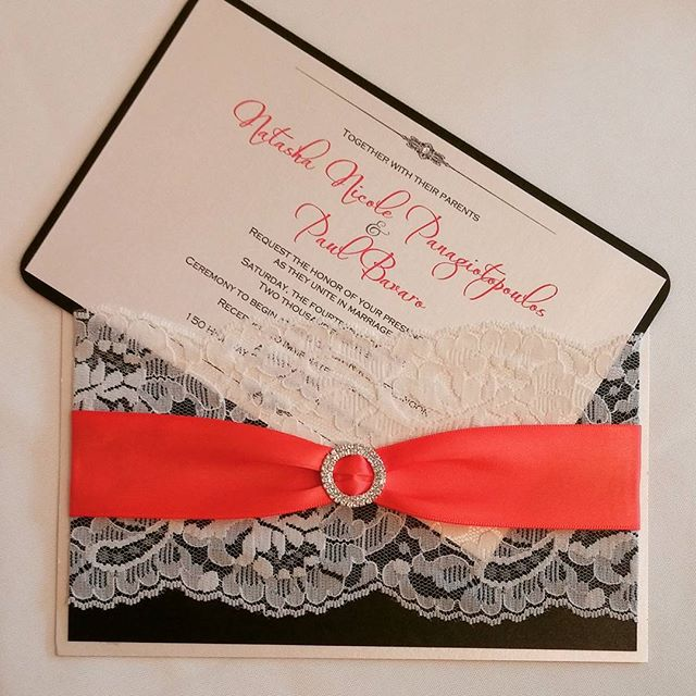 #custom #lace #wedding #pocketinvitation #popofcolor #bling #theseptemberrose#custominvitations #lux