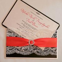 #custom #lace #wedding #pocketinvitation #popofcolor #bling #theseptemberrose#custominvitations #lux
