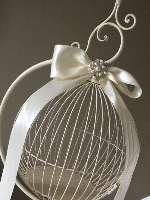 Lg Free Standing Round Bird Cage Envelope Holder