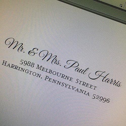 Envelope Addressing (we provide envelopes)