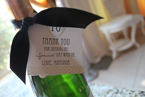 Favor Tag with Ribbon (Set of 25)