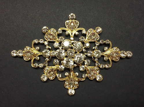 Large Brooch Gold (Gold Not Shown)