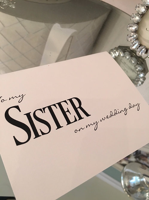 Thank you for Sister
