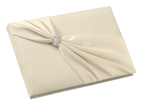 Ivory Guest Book (sash and bling)