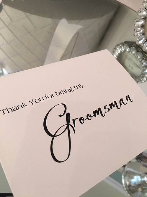 Thank You for Groomsman