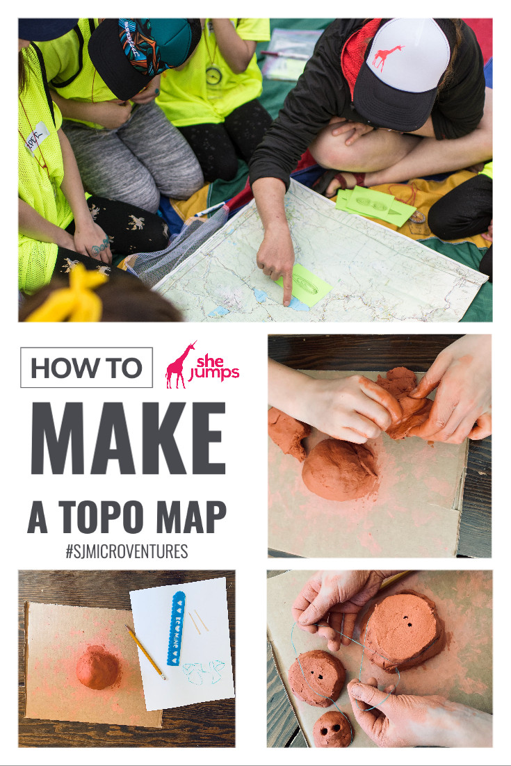 how to make a topo map collage
