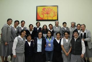 Visita de sor Myrna a la comunidad María Auxiliadora de Guadalajara.
