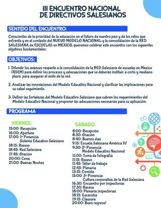 III Encuentro Nacional de Directivos Salesianos