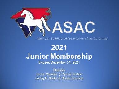 2021 ASAC Junior Membership