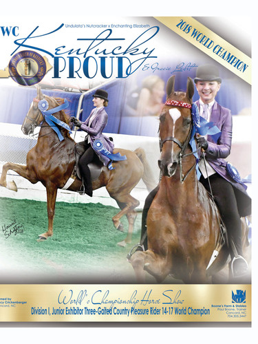 WC Kentucky Proud and Gracie Ledet Saddle Horse Report Ad