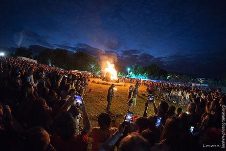 Ambiance festival feu au lac 2017 Loewen photographie