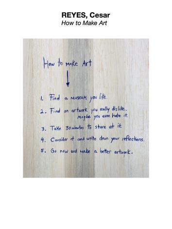 REYES, Cesar - How to Make Art