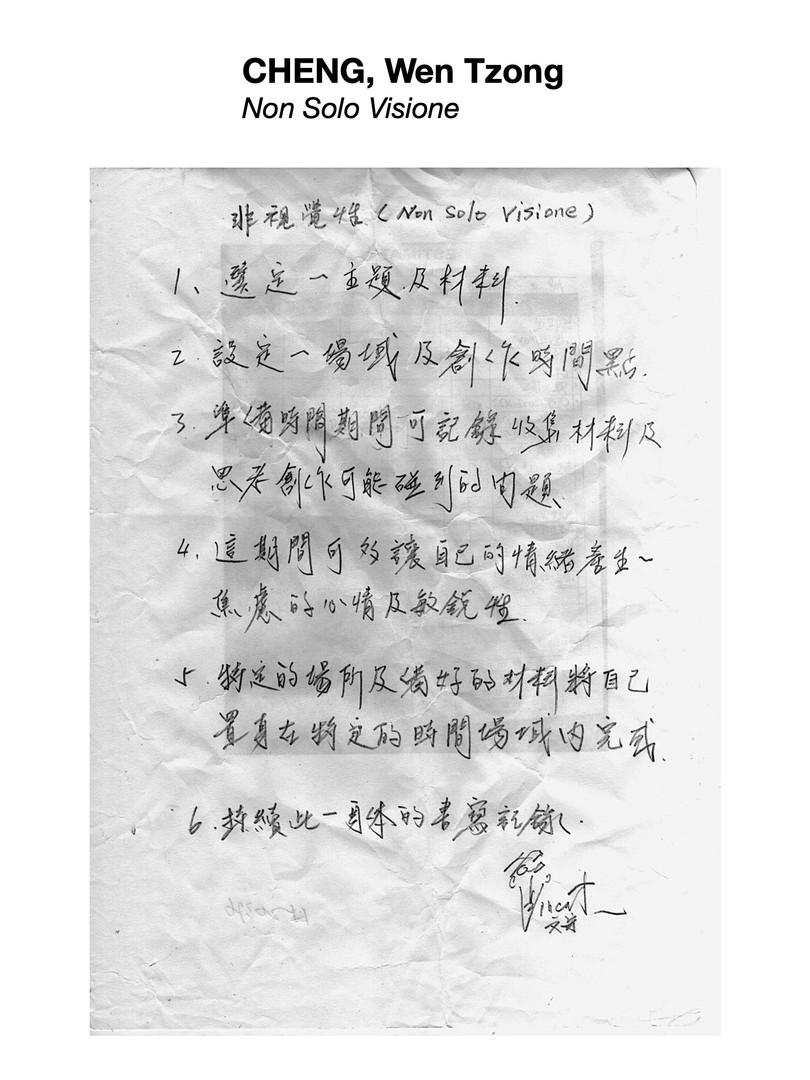 CHENG, Wen Tzong 程文宗 - Non Solo Visione