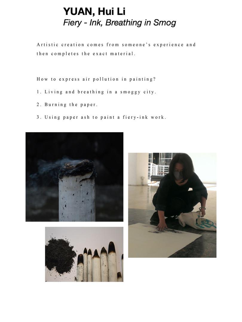 YUAN, Hui Li 袁慧莉 - Fiery-Ink, Breathing in Smog 火墨 在霾中呼吸