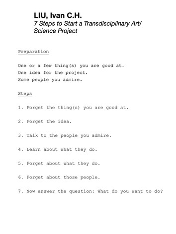 LIU, Ivan C.H. - 7 Steps to Start a Transdisciplinary Art/Science Project