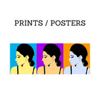 Prints are limited edition artworks that are still more affordable than paintings, but are still special works. Posters usually have no edition making them easier to buy, frame and hang.  A good entry point for first time buyers.