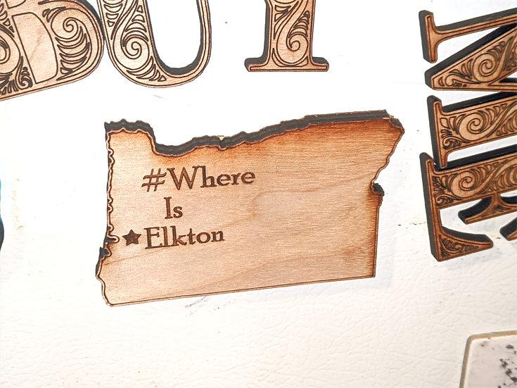 #WhereIsElkton Magnet