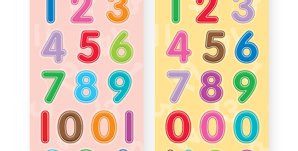 Chipboard Cut-outs (Numbers)