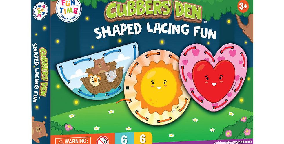 Cubbers Den Shapes Lacing Fun