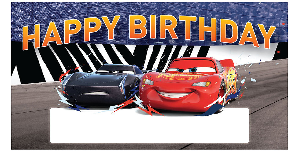 Cars Party Banner (1 pc.)