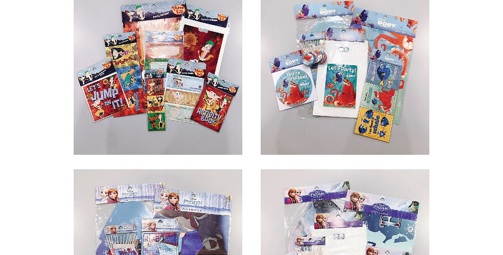 Phineas and Ferb, Finding Dory & Frozen JOYTOY Party Goods Set Packs