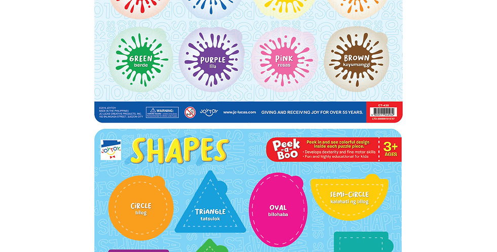 Colors & Shapes Peek-a-Boo Frame Tray Puzzle