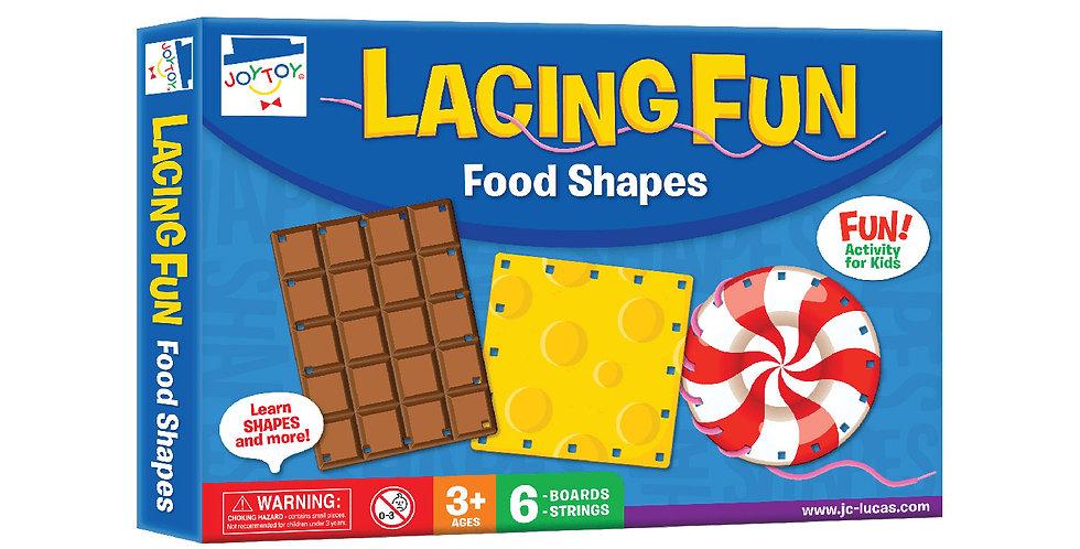 Lacing Fun Food Shapes
