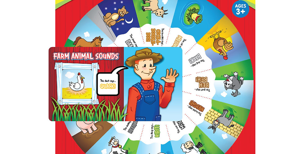 Farm Animals Sounds Wheel Chart