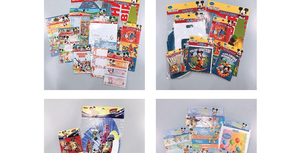 Mickey Mouse & Disney Baby Mickey JOYTOY Party Goods Set Packs