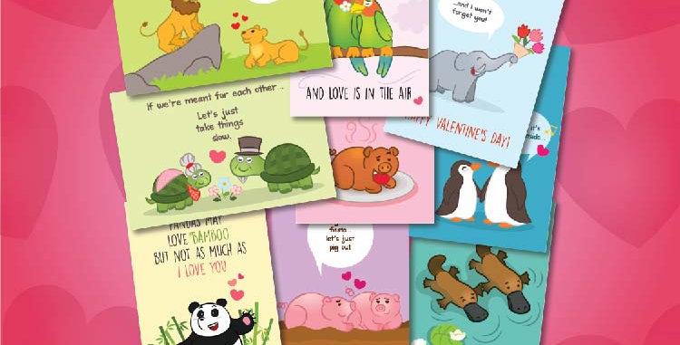 JOYTOY Valentines Postcards
