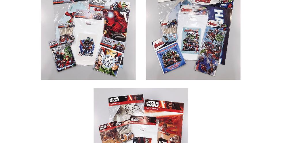 Avengers & Star Wars JOYTOY Party Goods Set Packs