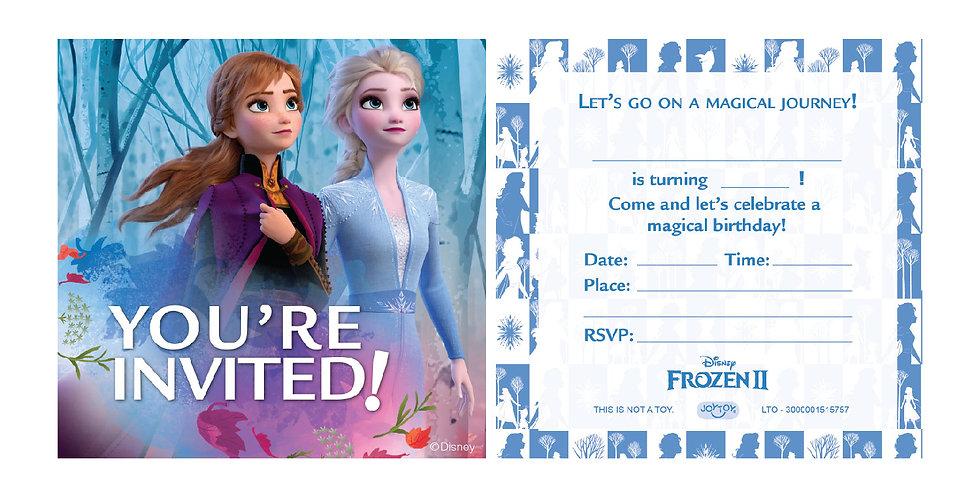 Frozen 2 Party Invitation Cards (6 sets)