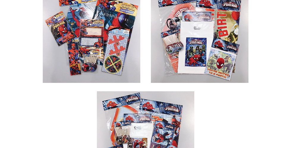 Spiderman JOYTOY Party Goods Set Packs