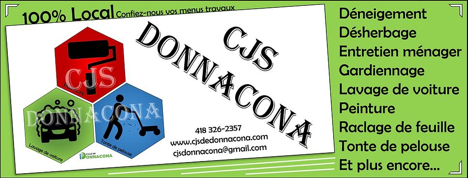 Page de couverture Cjs Donnacona