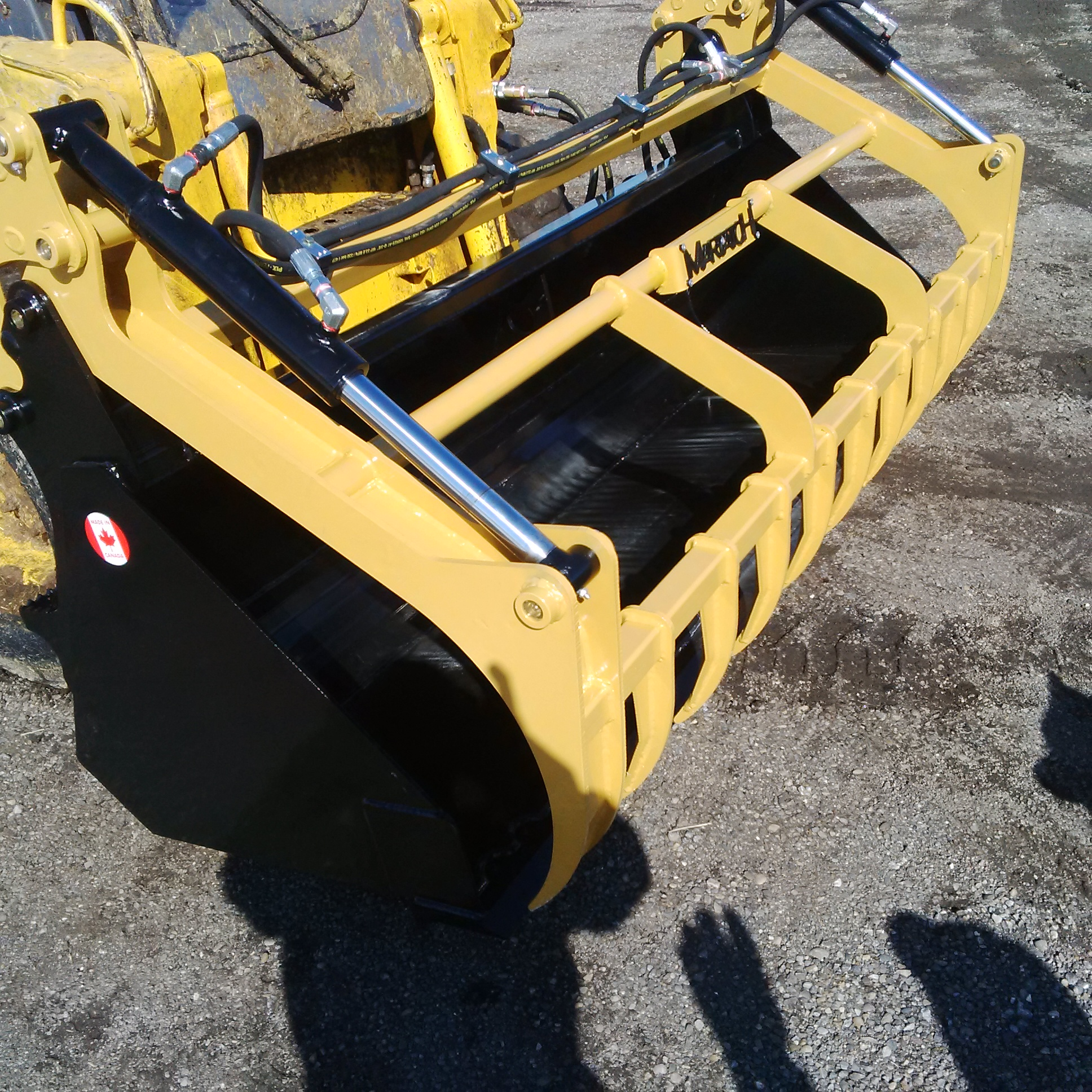 GROHV Skid Steer Grapple Bucket