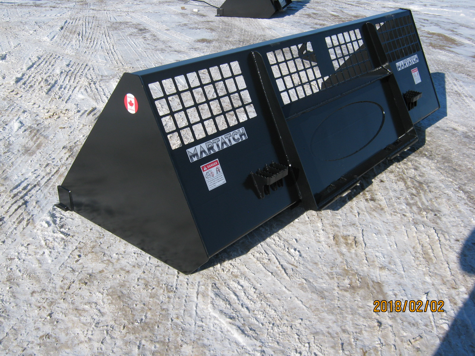 Skid Steer Snow Bucket - MBR96HV-GB