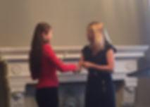 Dr. Annie Chou receives award from Global BC's News Director Jill Krop