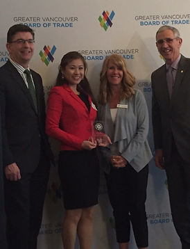 Dr. Annie Chou wins Woman of Promise (under age 35) from the Vancouver Board of Trade