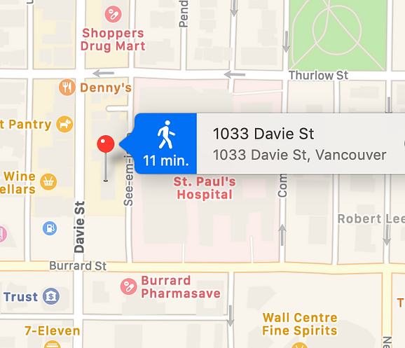 Davie Clinic Map.png