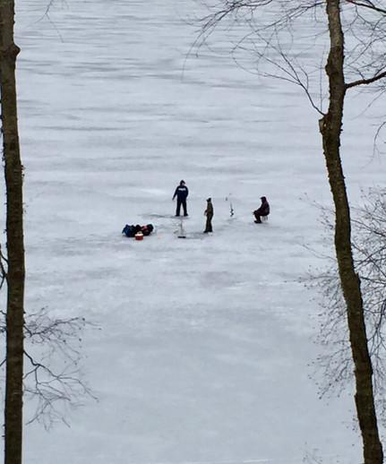 Ice fisherfolk