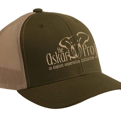 Askari Trucker Cap - Moss / Khaki