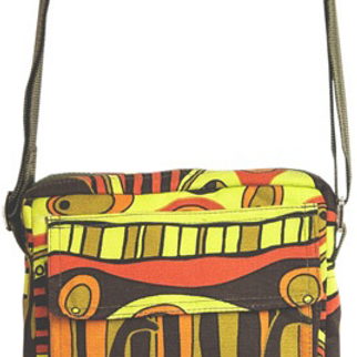 Shoulder Bag with Strap - Giraffe Retro Print