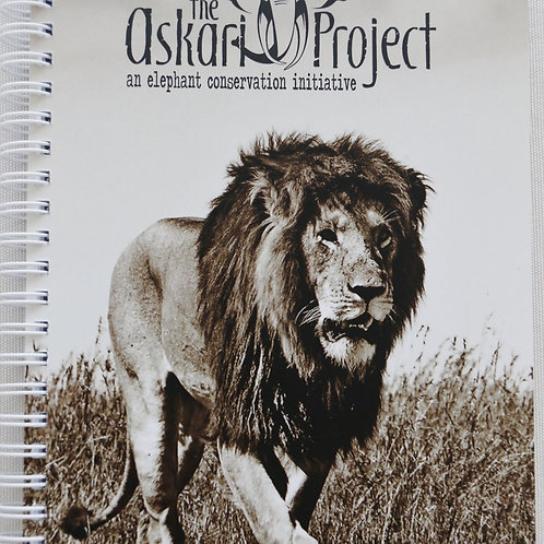A6 Askari Journal - Male Lion Print