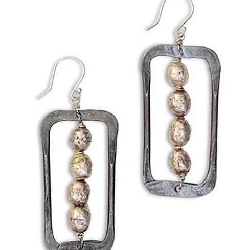Ethiopian Beads & Snarewire Earrings